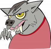 picture of wolfman  - cartoon vector illustration of funny spooky werewolf - JPG