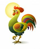 Funny decorative rooster