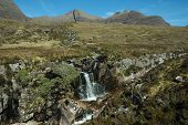 Waterfall Near Beinn Alligin, Scotland.