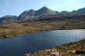 picture of gneiss  - Liathach from the north Highlands of Scotland - JPG