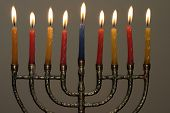 Candles And Menorah poster