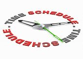 time schedule planning tasks in agenda setting goals and organize the day or meeting appointment on