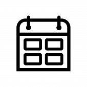 Calendar Outlined Symbol Of Timetable, Calendar Vector Icon, Calendar Image Jpg, Calendar Vector Eps poster