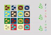 Isolated Vector Style Illustration Logo Set Badge Ingredient Warning Label Icons. Allergens Gluten,  poster