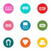 Case Icons Set. Flat Set Of 9 Case Vector Icons For Web Isolated On White Background poster