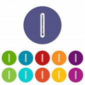 Street Thermometer Icon. Simple Illustration Of Street Thermometer Vector Icon For Web poster