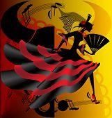 Постер, плакат: Испанский танец