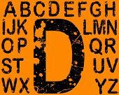 Acid Etched Font -  26 Individual Vector Letters (Acid etching is transparent so the letters can be
