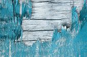 Wooden Wall With Peeling Paint. Paint Peeling Plaster Walls. Old Wooden Painted Rustic Background poster