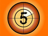 Orange and Red Circle Countdown at No 5 - (Vector Format)