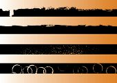 4 Black grunge artistic strips 1 (Transparent vector so it can be overlaid onto other graphics and images)