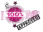 Stamps - 100% Approved. Letters have been uniquely designed and created by hand, with a grunge overl