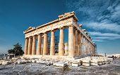 Parthenon On The Acropolis Of Athens, Greece. The Famous Ancient Greek Parthenon Is The Main Landmar poster