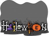 Design de rodapé com um tema de Halloween