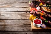 Various Barbecue Grill Food poster