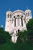 image of suny  - photo of catolic cathedral taken in lyon in france at suny day - JPG