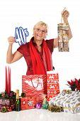 Caucasian Woman, Shopping Bag Discount