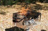 Barbecue Grill Fire - Danger!!!