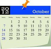 October 2012 Calendar