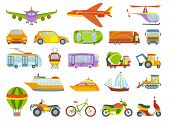 Urban Transport Colored Vector Illustration. City Transportation And Transporter Isolated On White B poster
