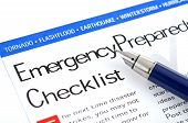 stock photo of disaster preparedness  - fountain pen lying on  - JPG