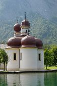 St Bartholomew's Church, Berchtesgaden National Park, Lake Konigssee, Germany