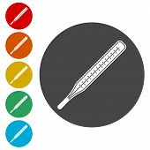 Thermometer Icon, Modern Thermometer, Medical Thermometer Icons Set poster