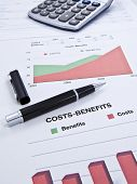 Costs-benefits Sheet poster