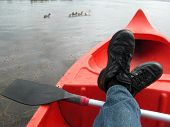Relaxing In The Canoe