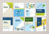 Set Of Brochure And Annual Report Cover Design Templates Of Nature, Green Technology, Renewable Ener poster