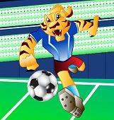 Tiger Football Mascot