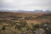 Scottish Landscape With Distant Hills