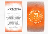 Second, Sacral Chakra - Swadhisthana. Illustration Of One Of The Seven Chakras. The Symbol Of Hindui poster