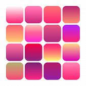 Abstract Set Of Modern Bright Gradient Backgrounds And Texture, Mobile App Vector Icon Templates Set poster