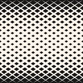 Vector Halftone Geometric Seamless Pattern With Diamond Shapes, Crystals, Rhombuses. Abstract Monoch poster