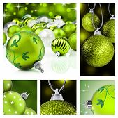 Collage Of Green Christmas Decorations