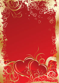 pic of valentine card  - Valentines grunge background art illustration for design - JPG