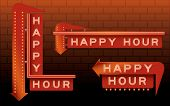 Sinais de Bar de Happy Hour