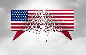 Divided American Politics And Political Divisiveness In The United States As Government Disagreement poster