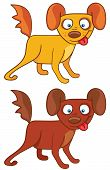 Dogs in cartoon style