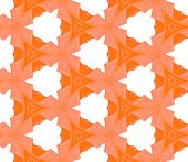 Orange Spring Geometry Seamless Pattern. Hand Drawn Watercolor Ornament. Pleasant Repeating Tile. Fa poster