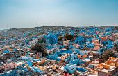 View Of The Old Town Of Jodhpur, India Blue City, A Famous Tourist Destination In Rajasthan And A Un poster