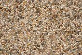 Pebbles surfacing