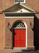 Historic Church Red Door poster
