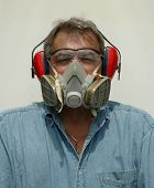 Blue Collar Worker Wearing Safety Gear