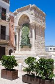 Monument to the Challenge in Barletta. Puglia. Italy.