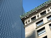 Historic Stone And Glass Office Building Contrast poster
