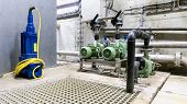 These Waste Water Pumps Are Located In A Technical Room At The Water Treatment Station poster