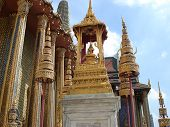 Temple Capstans In Great Royal Palace In Bangkok