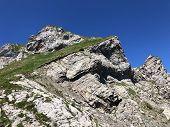 Alpine Mountain Peak Rossalpelispitz Or Rossaelplispitz Above The Alpine Lake Wagitalersee (waegital poster
